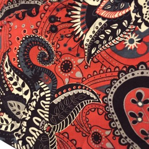 LuLaRoe Red and Gray Paisley Leggings