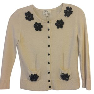 MILLY Cashmere Beaded Cardigan