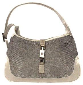 Gucci Silver Pewter Shoulder Bag