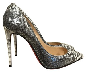 Christian Louboutin Pigalle Follies Stiletto silver Pumps