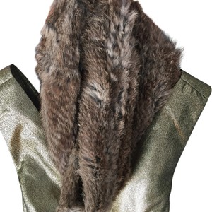 Surell surell camel color rabbit fur infinity scarf wrap