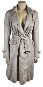 Burberry Belted Trench Crinkled Coat