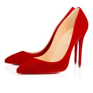 Christian Louboutin Pigalle Follies 100mm Suede Red Pumps