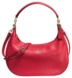 Coach Leather Red Crossbody Shoulder Bag