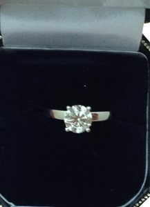Diamond United Certified Natural 1.05 CT Round Cut Diamond Solitaire Engagement Ring
