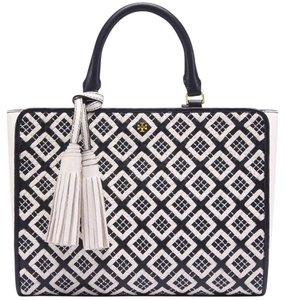 Tory Burch Tote Casual Woven Satchel in New Ivory