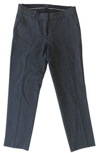 J.Crew Dot Capri Casual Capri/Cropped Pants Black with White Polka Dots