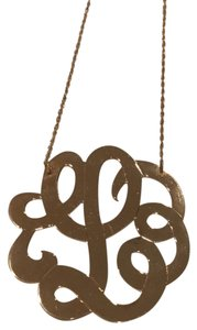 Jennifer Zeuner Emily Swirly Initial Pendant Necklace