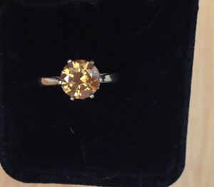 Zales Natural 2.0 CT Round Cut Yellow Diamond Solitaire Engagement Ring 14KT