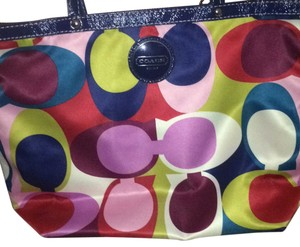 Coach Tote in multi colored