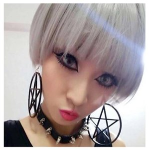 Next Level Dress Pentagram Large Star Earrings
