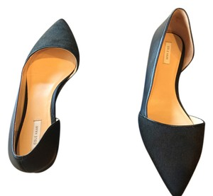 Cole Haan black leather/calf hair Flats