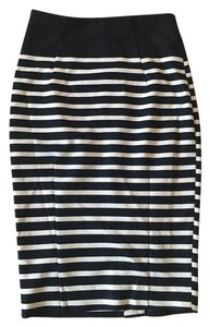 H&M Pencil Stripped Skirt Navy and White