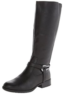 LifeStride Xena Faux Leather 6w Riding Black Boots