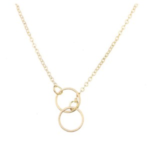 Next Level Dress Karma Double Circle Necklace