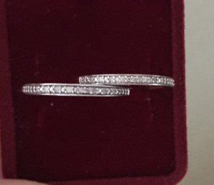 Zales (TWO) Natural 0.7 CT Half Eternity Diamonds Ring In 10K Rose White