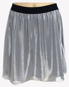 Chelsea28 Party New Year's Eve Sparkle Skirt Silver