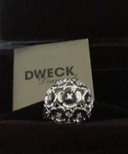 Stephen Dweck Dweck Diamond Flower Diamonds Ring & Box &a Inserts