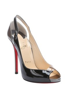Christian Louboutin Pump Open Toe Stiletto Black/Brown/Nude Pumps