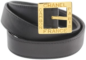 Chanel Cambon Square Buckle Leather