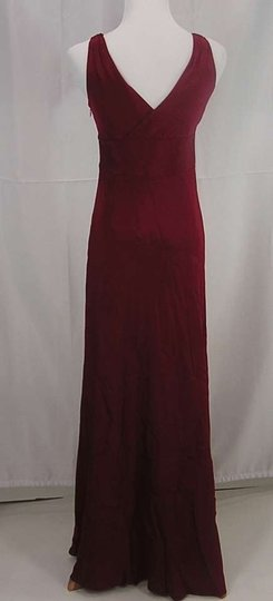 J.Crew Vintage Burgundy Silk with Polyester Lining Sophia Formal Wedding Dress Size 12 (L)