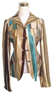 Marni Silk Linen Multi Edgy Made In Italy Multi print Blazer