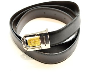 Burberry One size fits most Black Brown Reversible Belt