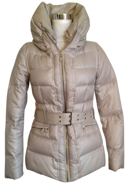 Zara Off White Down Jacket Coat Size 2 Xs Tradesy