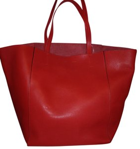 Céline Celine Phantom Cabas Tote in Red