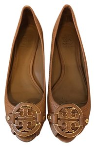 Tory Burch Peep Toe Brown Wedges