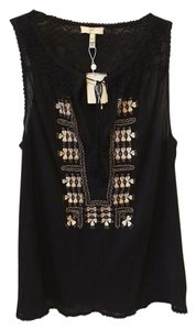 Joie Embroidered Hand Stiching Chic Boho Top