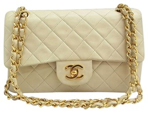 Chanel Cc Logo Gold Chain Flap Quilted Turnlock Cross Body Bag