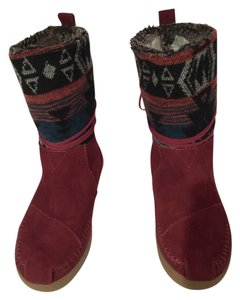 TOMS Burgundy Boots