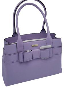 Kate Spade Large Elena Villabella Avenue Leatehr Lavender Satchel in Fdhydrange