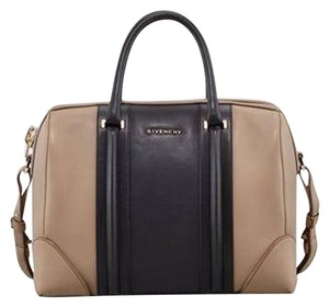 Givenchy Lucrezia Duffel Colorblock Tote in Taupe/Black