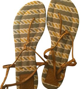 Tory Burch yellow and grey Sandals