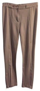 Alexander Wang Knit Leather Piping Ankle Zippers Leg T-wang Straight Pants Tan/Neutral
