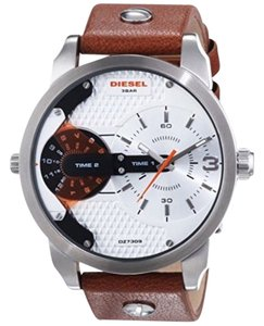 Diesel Diesel DZ7309 Men's Mini Daddy Chrono Brown Leather Watch