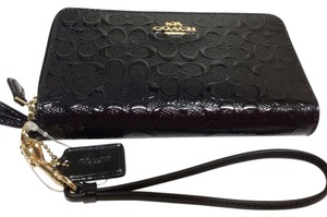 Coach Coach Signature Black Wallet Wrislet