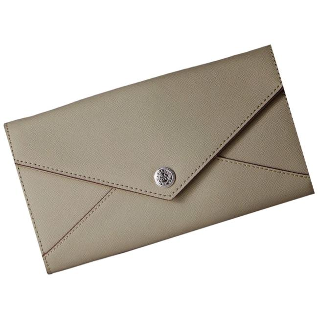 Item - Soft Grey Clutch Leather / On A Chain Wallet