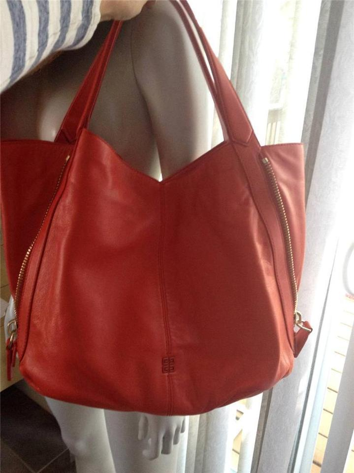 7f08f714c0 Givenchy Tinhan Side Vertical Tote Shopper Shopping Red Leather ...