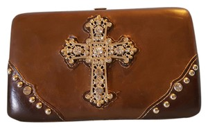 Country Road Organizer Cross brown/tan/white Clutch