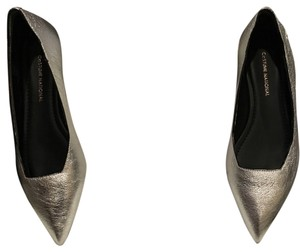 CoSTUME NATIONAL Metallic silver Flats