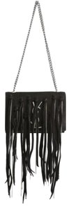 Saint Laurent Ysl Fringe Monogram Chain Shoulder Bag