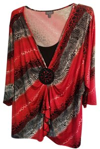 Essentials Boutique Top Red,White,Black