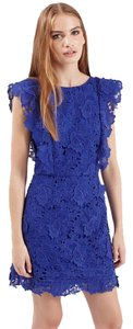 Topshop short dress Royal blue on Tradesy