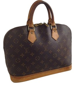Louis Vuitton Lv France Tote Strap Satchel in Brown Monogram