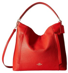 Coach Scout Large Pebble Leather Hobo Convertible Handag Crossbody Peble Leather Shoulder Bag