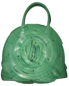 Valentino Rose Petale Dome Flower Satchel in Green