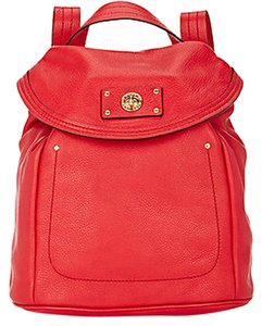 Marc by Marc Jacobs Totally Turnlock Coral Red Leather Backpack